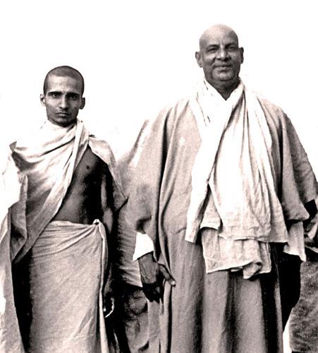 Krishnananda and Sivananda 1945