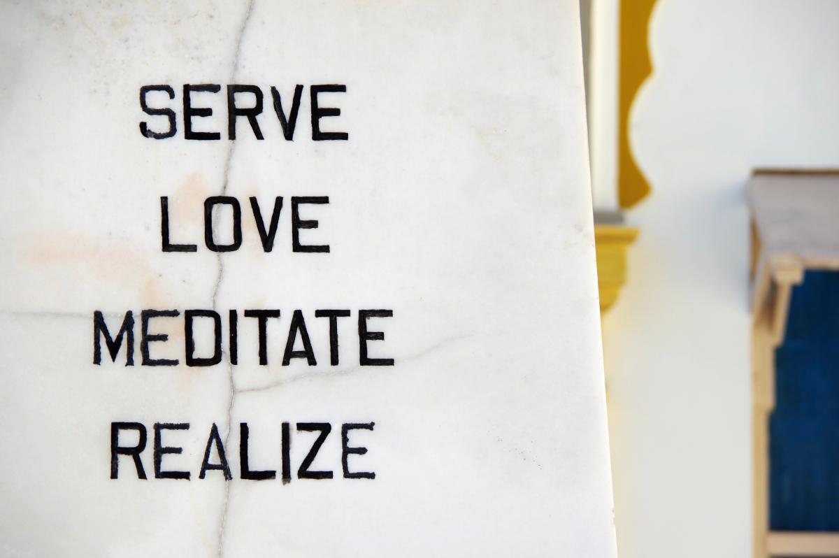 serve love meditate realize